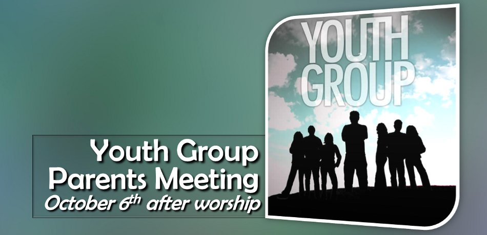 We are having a meeting right after church Oct 6.