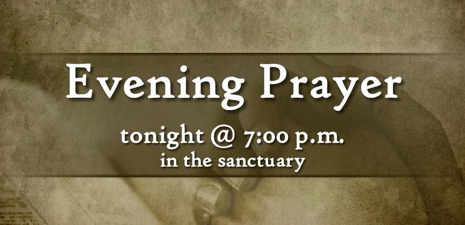 Tonight from 7-8 pm in the sanctuary led by Rev. Merrie Carson.